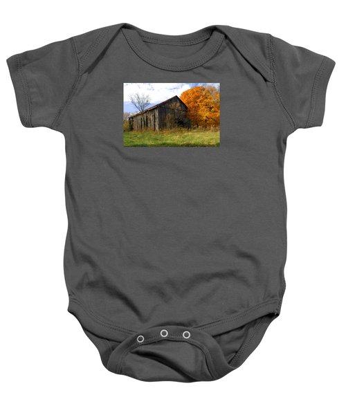 Weathered Barn 3 Baby Onesie