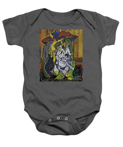 Picasso's Weeping Woman Baby Onesie
