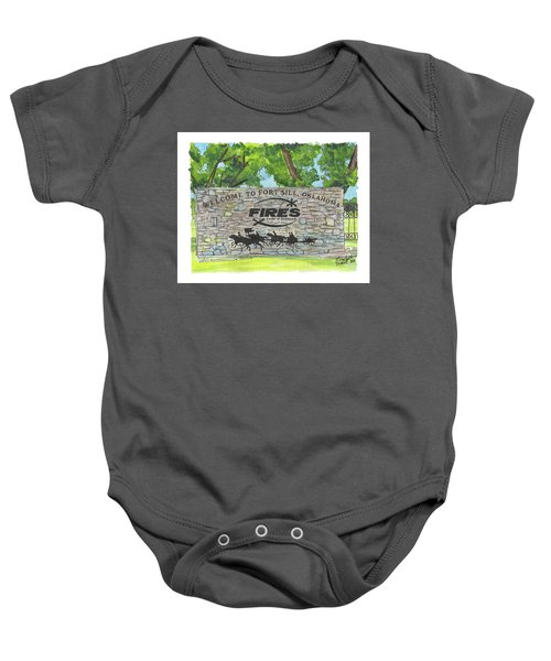 Welcome Sign Fort Sill Baby Onesie
