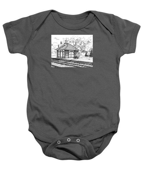 West Hinsdale Train Station Baby Onesie