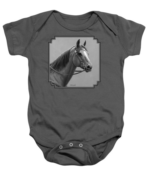 Western Quarter Horse Black And White Baby Onesie