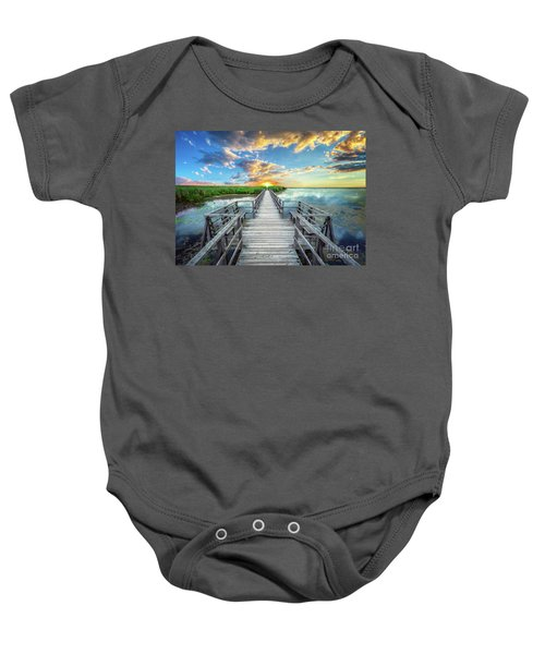 Wetland Marsh Sunrise Treasure Coast Florida Boardwalk A1 Baby Onesie
