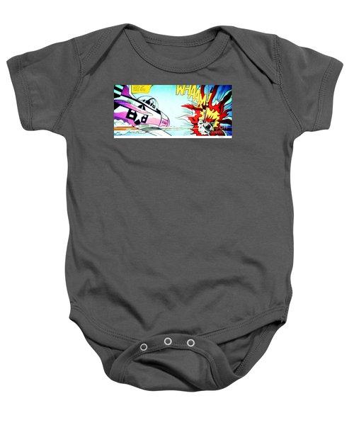 Whaam - Roy Lichtenstein  Baby Onesie