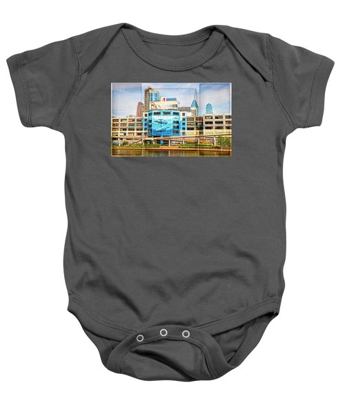 Whales In The City Baby Onesie