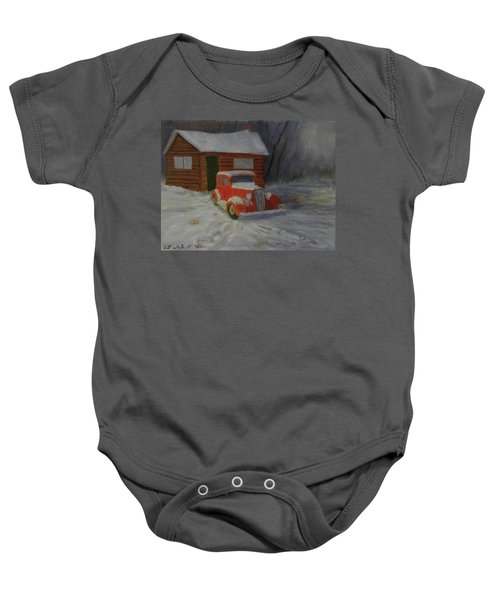 When Cars Were Big And Homes Were Small Baby Onesie