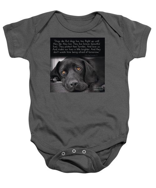When Dogs Die Baby Onesie