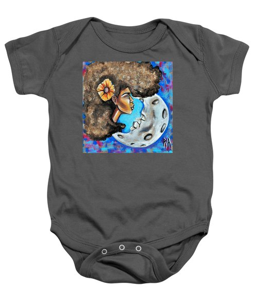 When He Gave You The Moon Baby Onesie