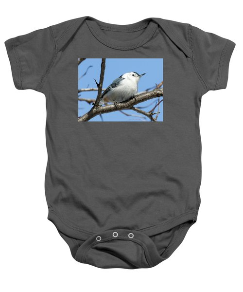 White-breasted Nuthatch Perched Baby Onesie