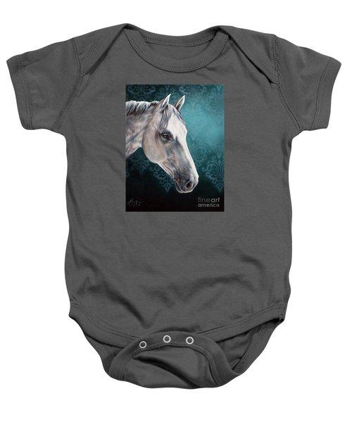 White Horse Baby Onesie