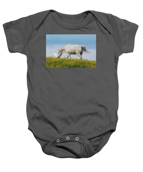 White Horse Of Cataloochee Ranch 2 - May 30 2017 Baby Onesie