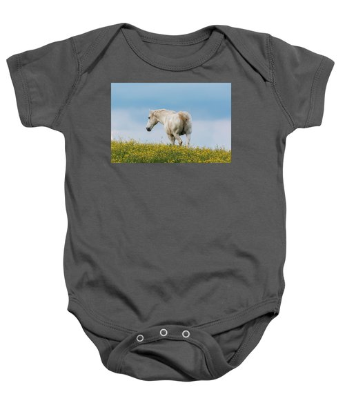 White Horse Of Cataloochee Ranch - May 30 2017 Baby Onesie