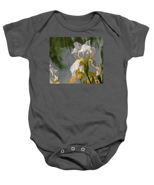 White Iris Baby Onesie
