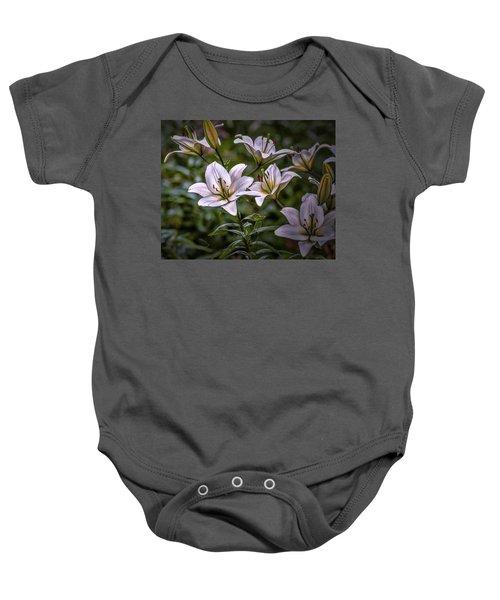 White Lilies #g5 Baby Onesie