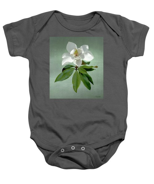 White Magnolia Baby Onesie