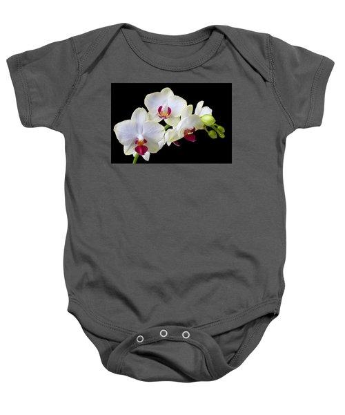 White Orchids Baby Onesie