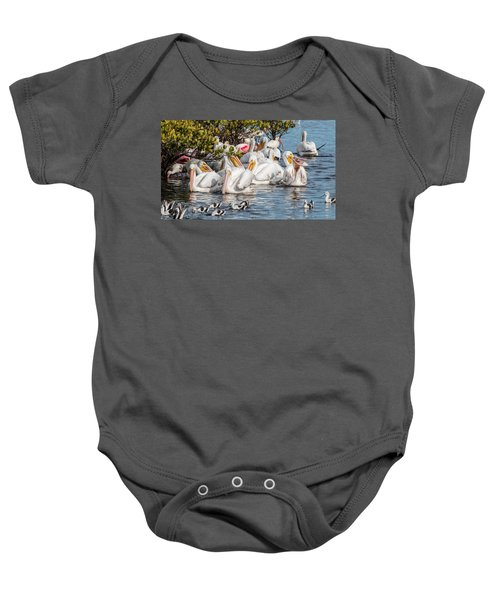 White Pelicans And Others Baby Onesie