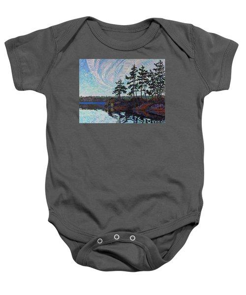 White Pine Island Baby Onesie