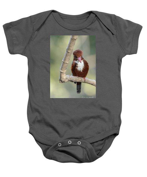 White-throated Kingfisher 01 Baby Onesie