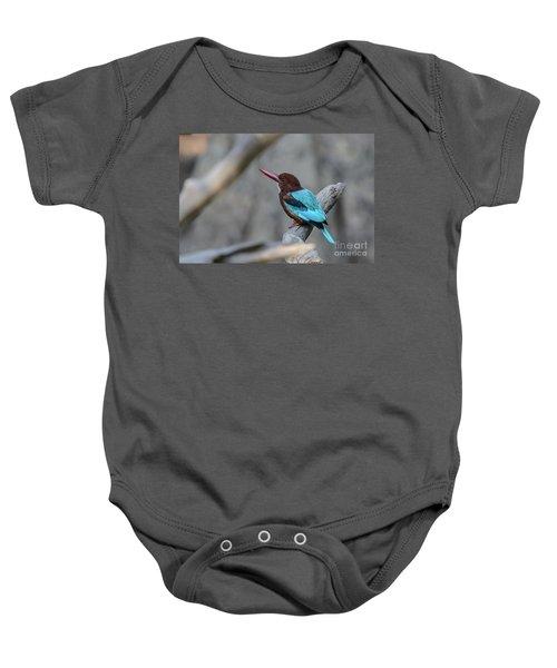 White-throated Kingfisher 02 Baby Onesie