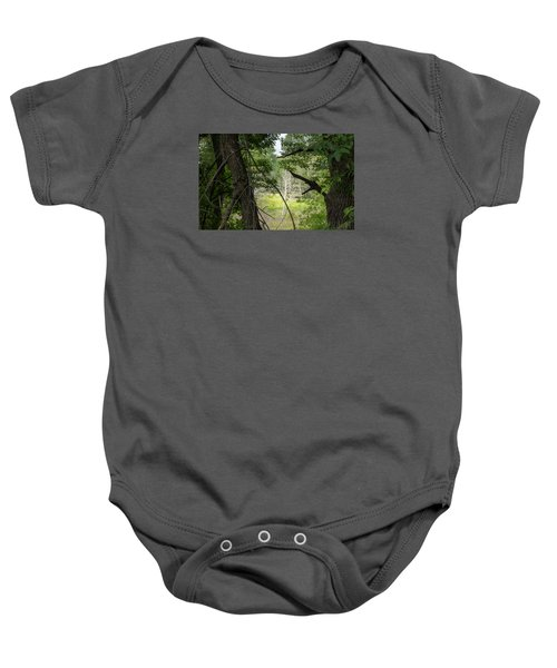 White Tree In Magic Forest Baby Onesie