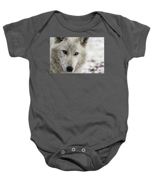 White Wolf II Baby Onesie