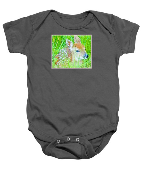 Whitetailed Deer Fawn Baby Onesie