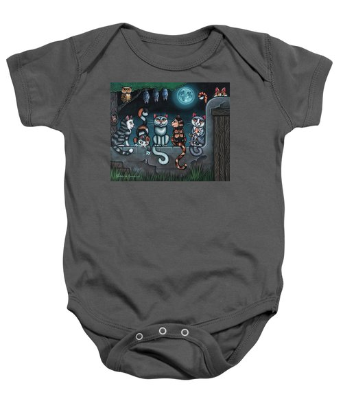 Whos Your Daddy Cat Painting Baby Onesie