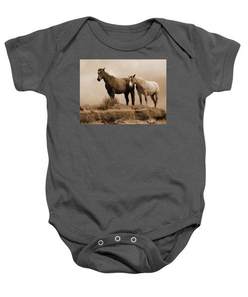 Wild Horses In Western Dakota Baby Onesie