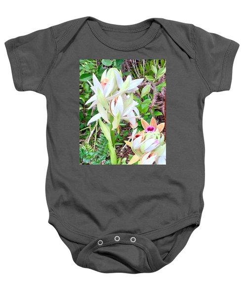 Wild Orchids In Pastel 2 Baby Onesie