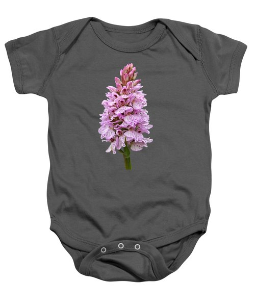 Wild Pink Spotted Orchid Baby Onesie