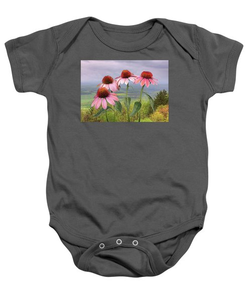 Wild Purple Coneflowers Baby Onesie
