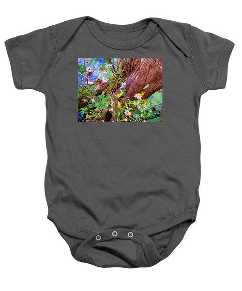 Wildflowers On A Cypress Knee Baby Onesie