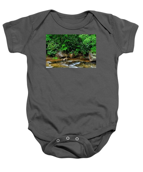 Williams River And Rhododdendron Baby Onesie