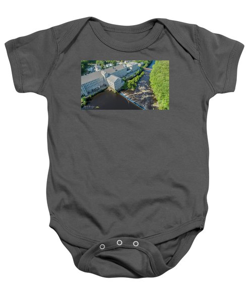 Willimantic River And Mill #2 Baby Onesie