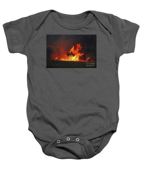 Wildfire Flames Baby Onesie