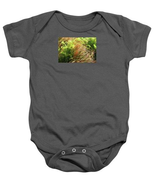 Windblown Grasses Baby Onesie