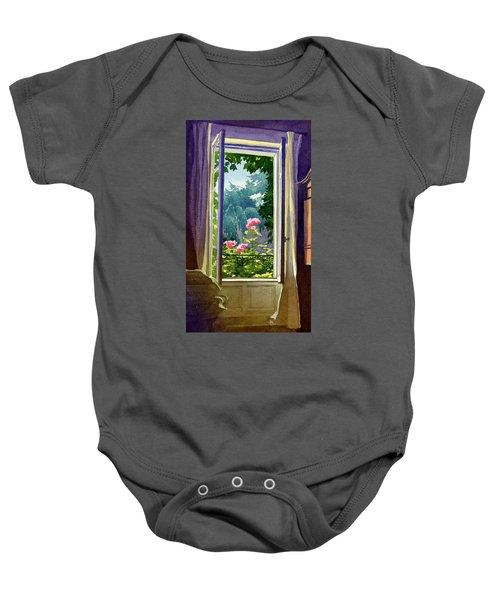 Window At Clermont Baby Onesie