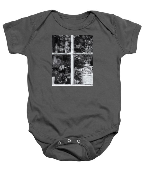 Window In Black And White Baby Onesie