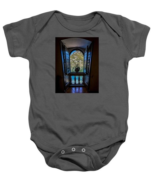 Window To The Lake Baby Onesie