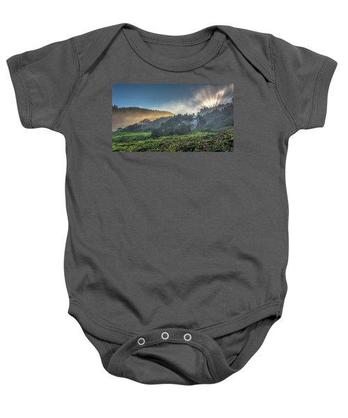 Windswept Trees On The Oregon Coast Baby Onesie