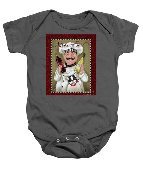 Wine Chef-wine For Two Baby Onesie