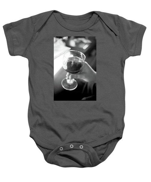 Wine In Hand Baby Onesie