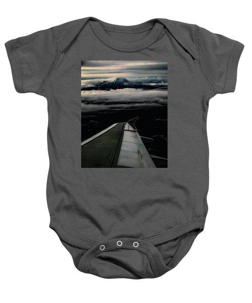 Wings Over Rainier Baby Onesie