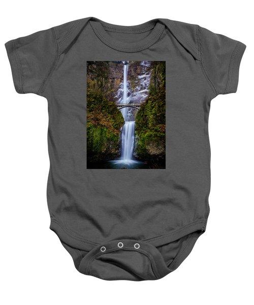 Winter At Multnomah Falls 2 Baby Onesie