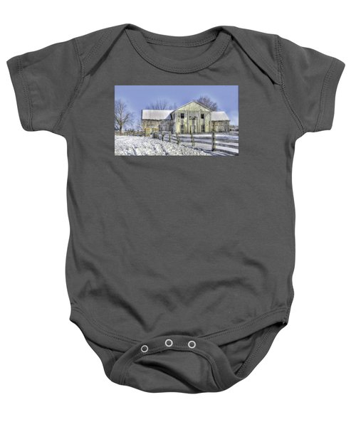 Winter Barn 3 Baby Onesie