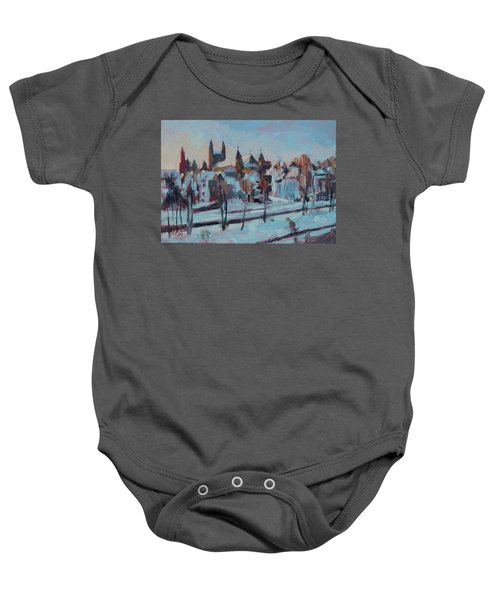Winter Basilica Our Lady Maastricht Baby Onesie