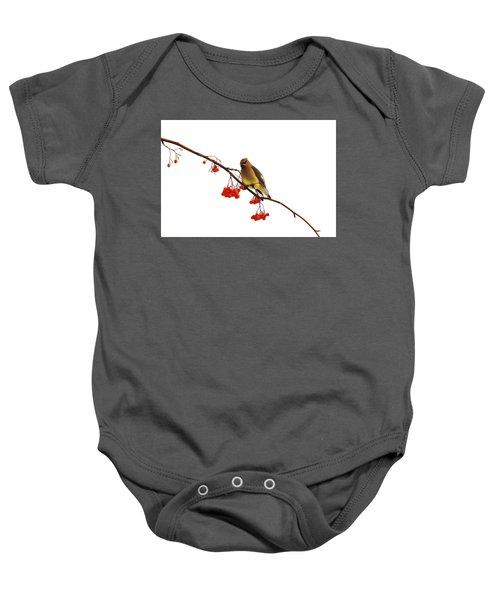 Winter Birds - Waxwing  Baby Onesie