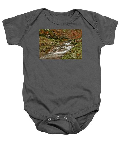 Winter Forest Stream Baby Onesie
