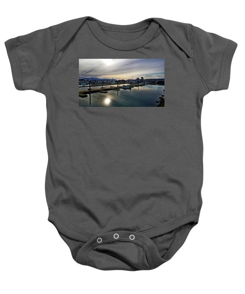 Winter Harbor Revisited #mobilephotography Baby Onesie