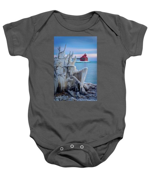 Winter Lighthouse Baby Onesie